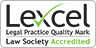 This organisation has Lexcel - the quality mark for practice management and client care.